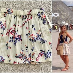 Anthro Cooperative Floral Pocket Skirt